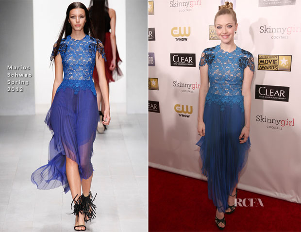 Amanda Seyfried In Marios Schwab - 2013 Critics' Choice Movie Awards