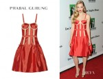 Amanda Seyfried's Prabal Gurung Mesh Trimmed Dress