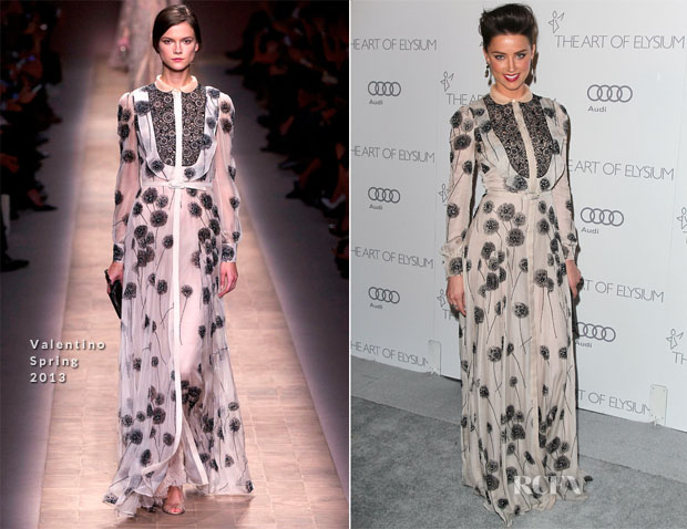 Amber Heard in Valentino Art Of Elysium Heaven Gala