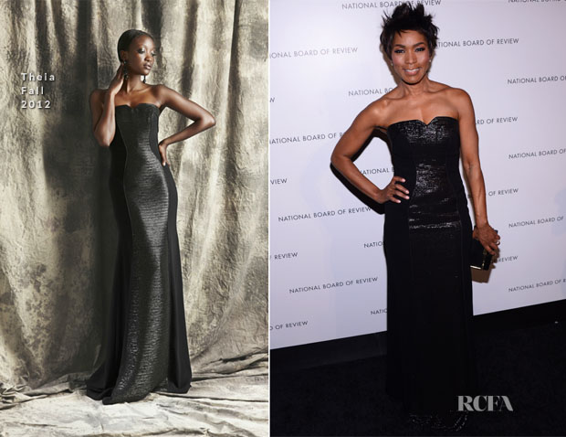 Angela Bassett In Theia - 2013 National Board Of Review Awards