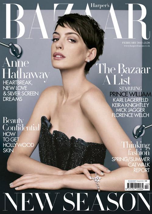 Anne Hathaway Harper's Bazaar February 2013