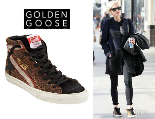 Ashlee Simpson's Golden Goose Leopard Suede Slide Sneakers