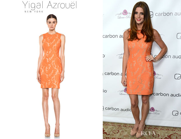 Ashley Greene's Yigal Azrouel Paisley Lace Dress