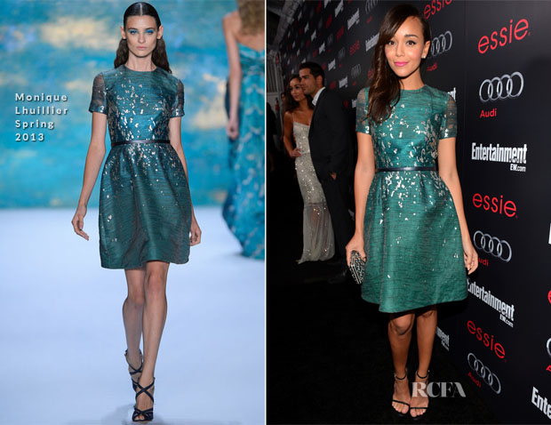 Ashley Madekwe In Monique Lhuillier - The Entertainment Weekly Pre-SAG Party