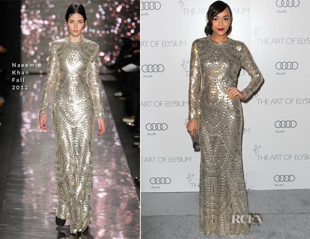 Ashley Madekwe In Naeem Khan (Fall 2012) - Art of Elysium Heaven Gala