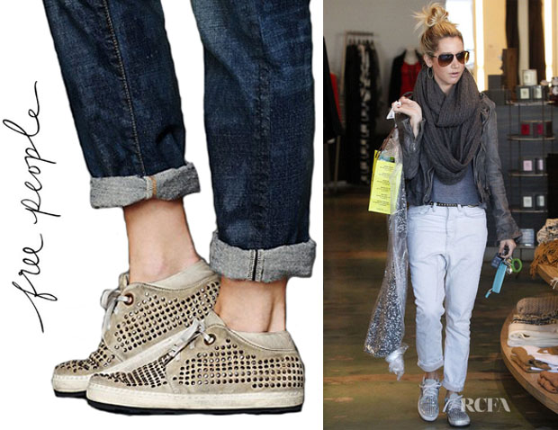 Ashley Tisdale's Free People Sun Valley Studded Sneakers