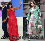 Best Dressed Of The Week - Michelle Obama In Jason Wu & Sarah Jessica Parker In Giambattista Valli Couture & Mary Katrantzou