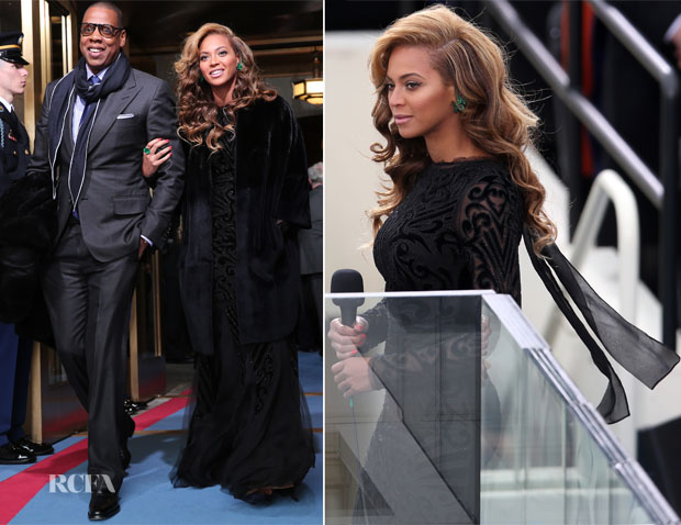 Beyonce Knowles In Emilio Pucci -  Ceremonial Inauguration For US President Barack Obama