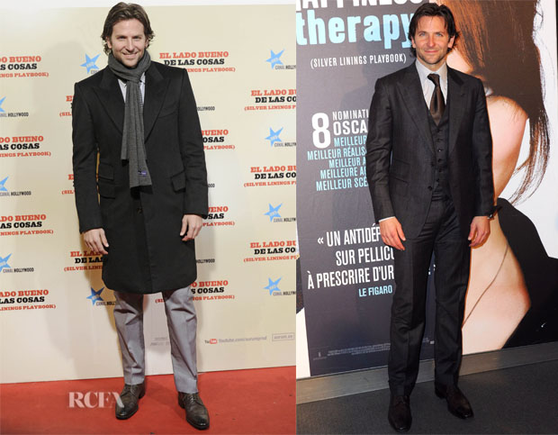 Bradley Cooper In Ferragamo & Tom Ford - 'Silver Linings Playbook' Madrid & Paris Premieres