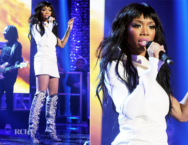 Brandy In Esteban Cortazar - Dick Clark's New Year's Rockin' Eve With Ryan Seacrest 2013