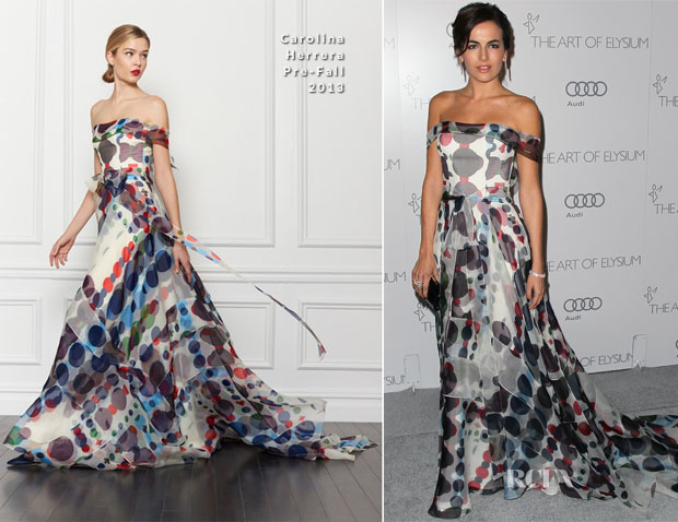 Camilla Belle In Carolina Herrera - 2013 Art of Elysium Heaven Gala