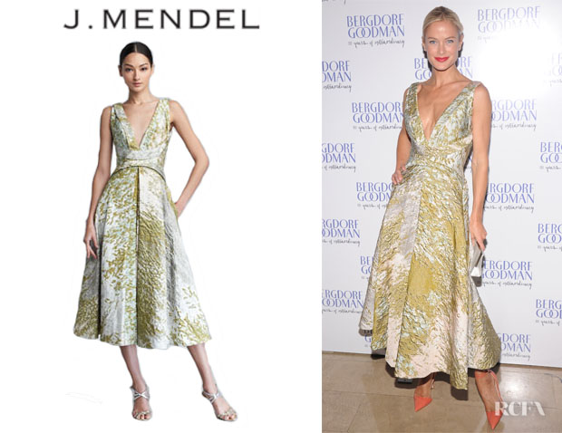 Carolyn Murphy's J. Mendel Textured Taffeta Dress