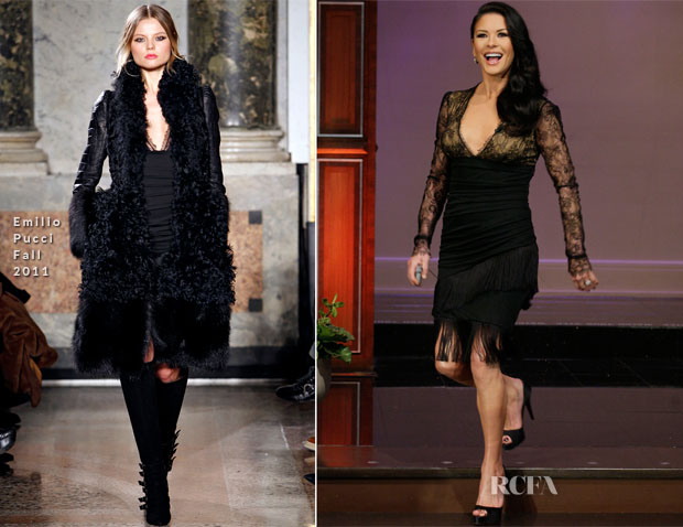 Catherine Zeta Jones In Emilio Pucci - The Tonight Show with Jay Leno