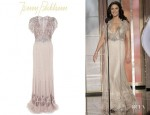 Catherine Zeta Jones' Jenny Packham Embellished Gown