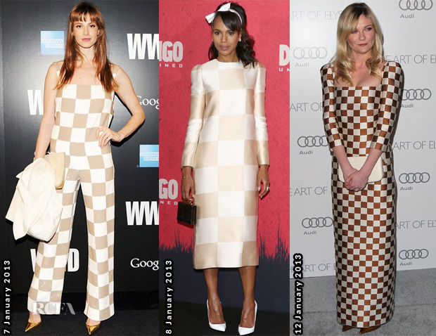 Celebs Love Louis Vuitton Check Print 2