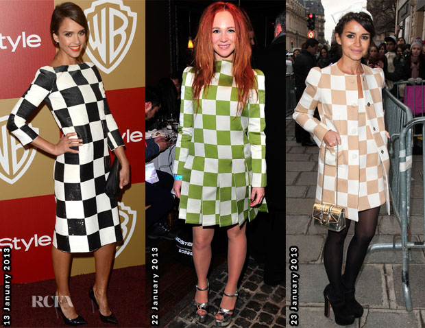 Celebs Love Louis Vuitton Check Print 3