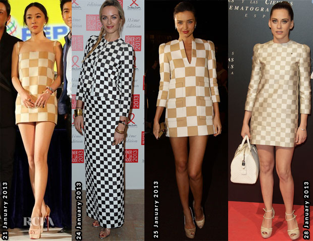 Celebs Love Louis Vuitton Check Print 4