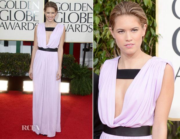 Cody Horn In Vionnet - 2013 Golden Globe Awards