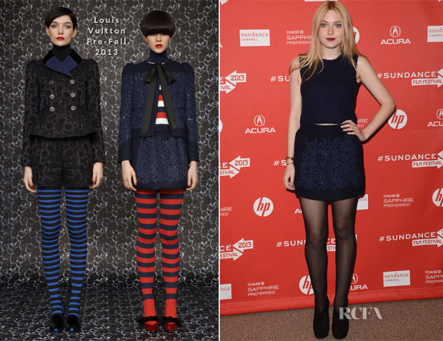 Dakota Fanning In Louis Vuitton - 'Very Good Girls' Sundance Film Festival Premiere