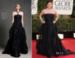 Debra Messing In Donna Karan - 2013 Golden Globe Awards