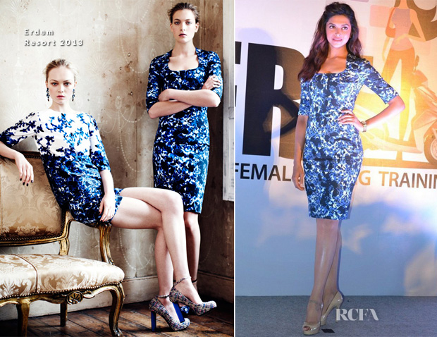 Deepika Padukone In Erdem - Yamaha's Female Riding Training Programme Event