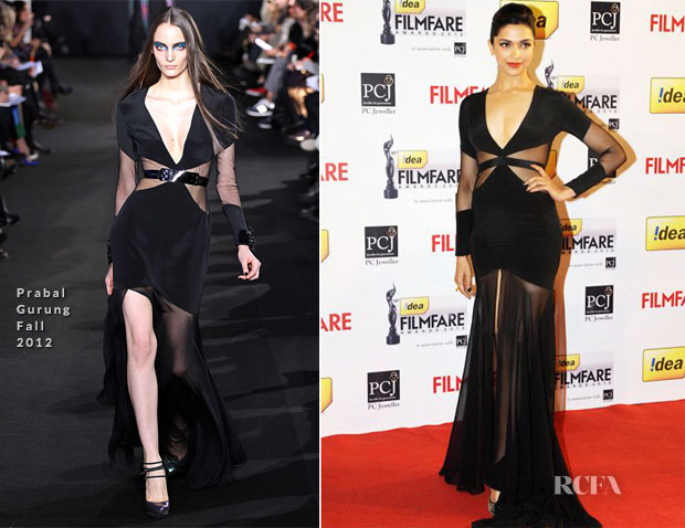 Deepika Padukone In Prabal Gurung - 58th Idea Filmfare Awards
