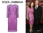Diane Lane's Dolce & Gabbana Lace Dress