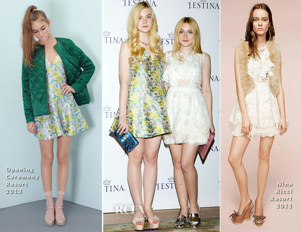 Elle Fanning In Opening Ceremony & Dakota Fanning In Nina Ricci