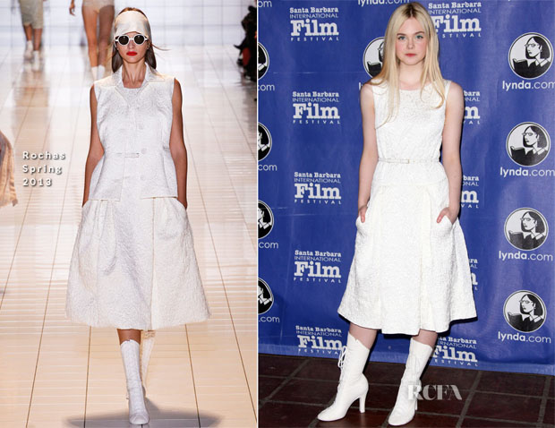 Elle Fanning In Rochas - 28th Santa Barbara International Film Festival's Virtuoso Award Ceremony