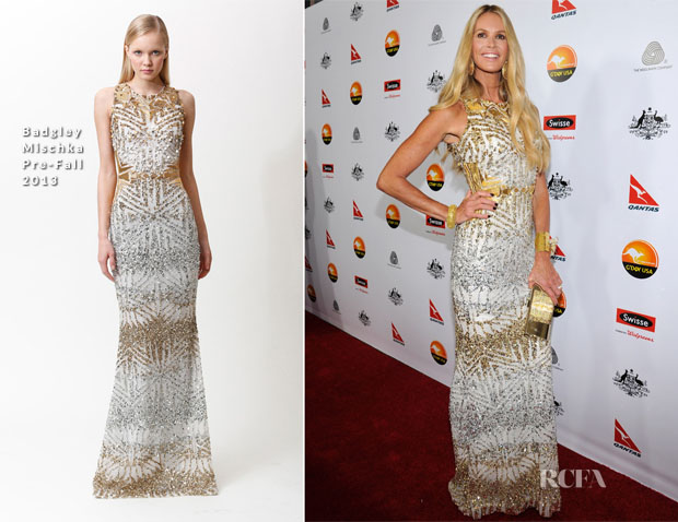 Elle Macpherson In Badgley Mischka (Pre-Fall 2013) - 2013 G'Day USA