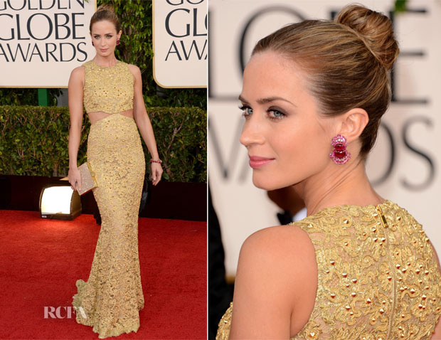 Emily Blunt in Michael Kors - 2013 Golden Globes