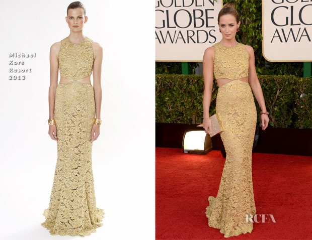 Emily Blunt in Michael Kors Resort 2013 - Golden Globes