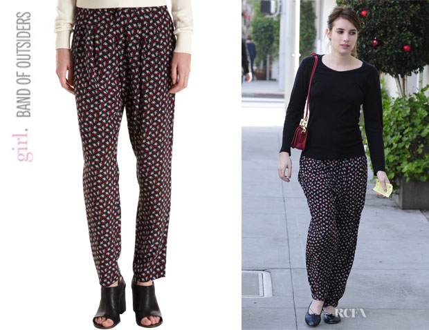 Emma Roberts' Girl. by Band Of Outsiders Ami Pants