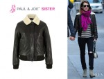 Emma Roberts' Paul & Joe Sister 'Cooper' Leather Jacket