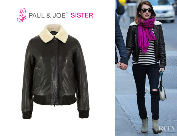Emma Roberts' Paul & Joe Sister Cooper Brown Jacket
