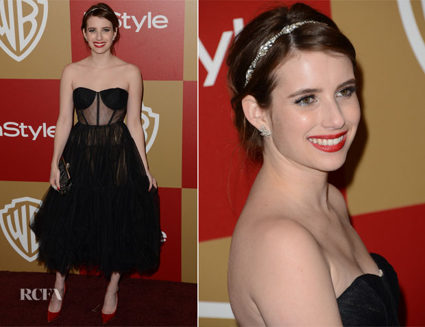 Emma Roberts in Maria Lucia Hohan - Golden Globe Party