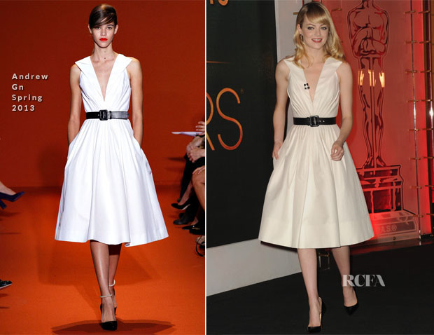 Emma Stone In Andrew Gn - 85th Academy Awards Nominations Announcement