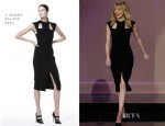 Emma Stone In J. Mendel - The Tonight Show with Jay Leno