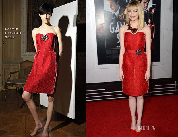 Emma Stone In Lanvin - 'Gangster Squad' LA Premiere