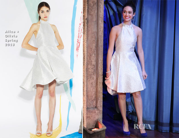 Emmy Rossum In Alice + Olivia  - Late Night with Jimmy Fallon