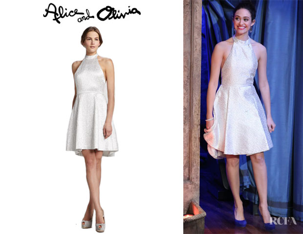 Emmy Rossum's Alice + Olivia Corina Trapeze-Hem Dress