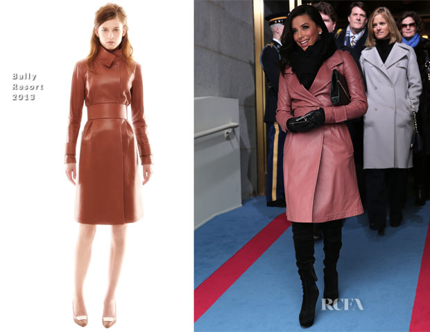 Eva Longoria In Bally - Ceremonial Inauguration For U.S