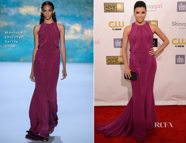 Eva Longoria In Monique Lhuillier - 2013 Critics' Choice Movie Awards