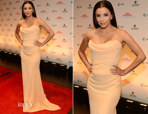 Eva Longoria In Vivienne Westwood Couture Latino Inaugural 2013 Event Red Carpet Fashion Awards