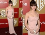 Felicity Jones In Miu Miu - Warner Bros. And InStyle Golden Globe Awards After Party