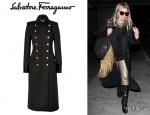 Fergie's Salvatore Ferragamo Double-Breasted Wool Coat