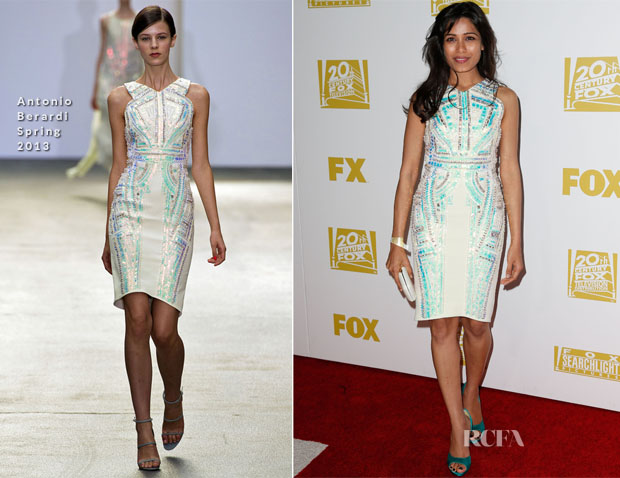 Freida Pinto In Antonio Berardi - Fox Searchlight 2013 Golden Globe Awards Party