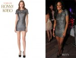 Gabrielle Union's Torn by Ronny Kobo Bella Pleated Dress