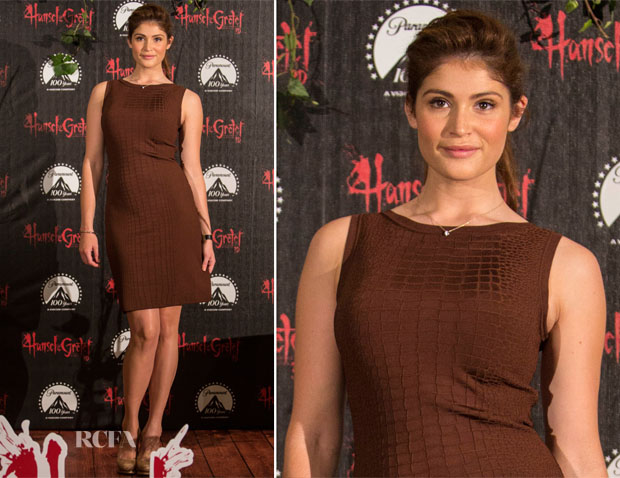 Gemma Arterton In Gucci - 'Hansel and Gretel Witch Hunters' Mexico Photocall