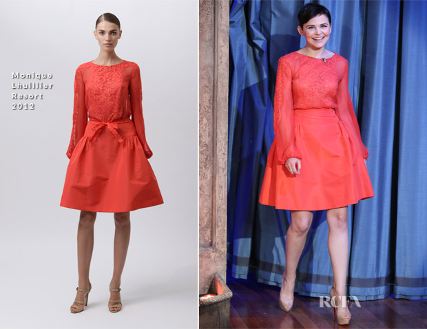 Ginnifer Goodwin In Monique Lhuillier - Late Night with Jimmy Fallon